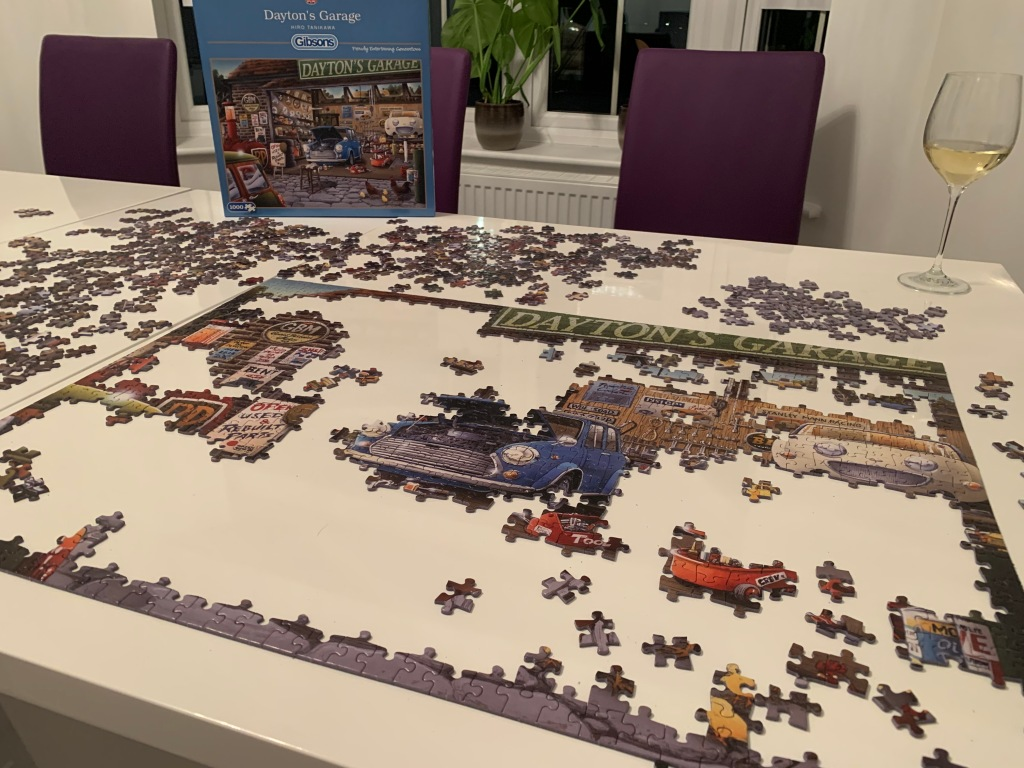 One of our last puzzles. My husband loves cars so this was a perfect choice.